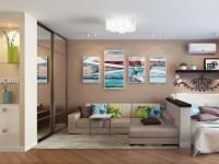 Дизайн однокомнатной квартиры — 175 фото лучших интерьеров