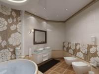 Натяжной потолок в ванной — советы экспертов, обзор видов, фото примеры.