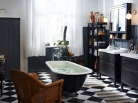 Черно белая ванная комната (80 фото) — идеальные варианты сочетания интерьера