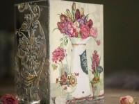 Декупаж вазы — пошаговая инструкция с описанием и фото примерами