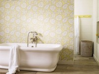 Обои для ванной комнаты — 110 фото идей в интерьере