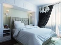 Дизайн спальни 9 кв. м. — фото современного интерьера спальни