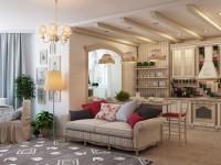 Гостиная в стиле прованс — 80 фото идей необычного оформления