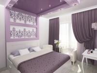 Натяжной потолок в спальне — 155 лучший фото идей