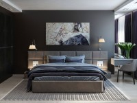 Темная спальня — фото интересных идей дизайна спальни в темных тонах