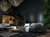 Темная гостиная — фото примеры оформления дизайна гостиной в темных тонах
