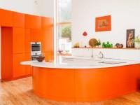 Оранжевая кухня — фото обзор всех особенностей и сочетания с другими цветами