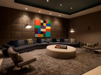 Коричневая гостиная- фото примеры красивого интерьера и дизайна в гостиной