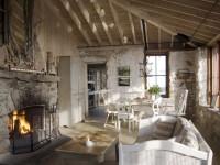 Гостиная в стиле кантри — 75 фото идей красивого дизайна
