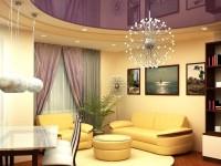 Натяжные потолки в гостиной — 120 фото интересных вариантов оформления потолка в гостиной