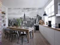 Обои для кухни — 120 фото лучших решений оформления дизайна обоев на кухне