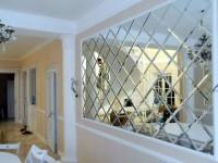 Зеркальное панно на стену — 55 фото идей в интерьере