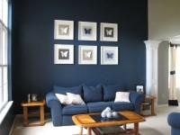 Синяя гостиная — 75 фото идей оформления дизайна гостиной синего цвета