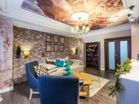 Идеи дизайна потолка в зале (60+ фото)