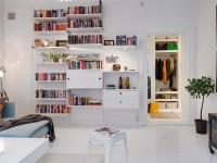 Оригинальные дизайны полок в интерьере гостиной (80+ фото)