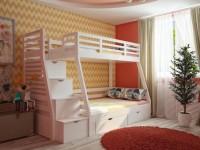 Детская комната с двухъярусной кроватью (100+ фото)