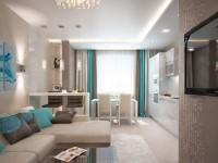 Варианты зонирование кухни и гостиной (100+ фото)