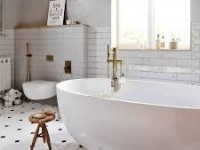 Дизайн ванной комнаты в скандинавском стиле (60+ фото)