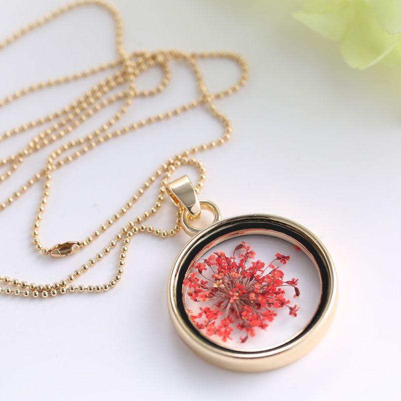novyj-stil-stekla-medalon-suxix-cvetov-diy-ozherele-pozolochennyj-cvet-cepi-sharm-pamyati-medalon-ozherele-podveska