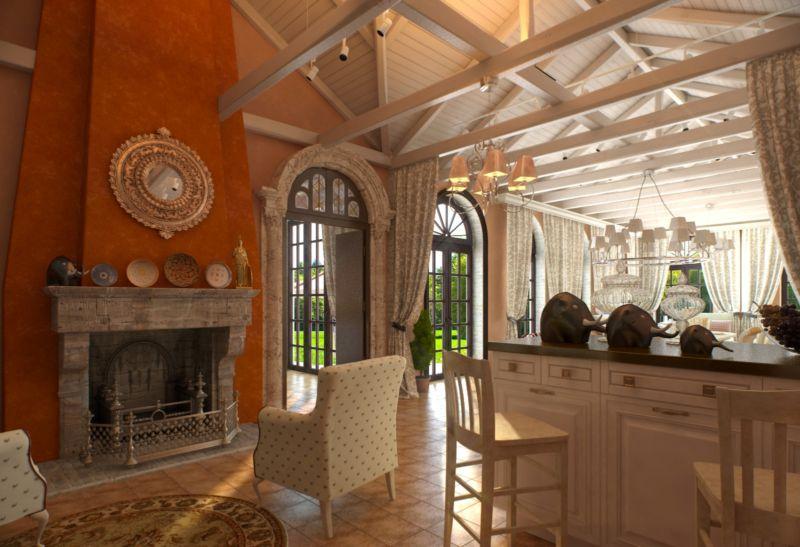 дизайн интерьера летней кухни в итальянском стиле