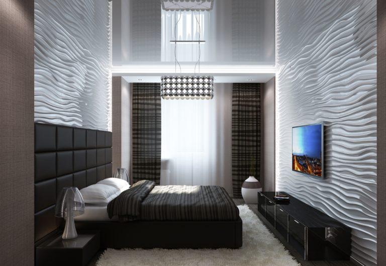Спальня в стиль хай-тек в интерьере