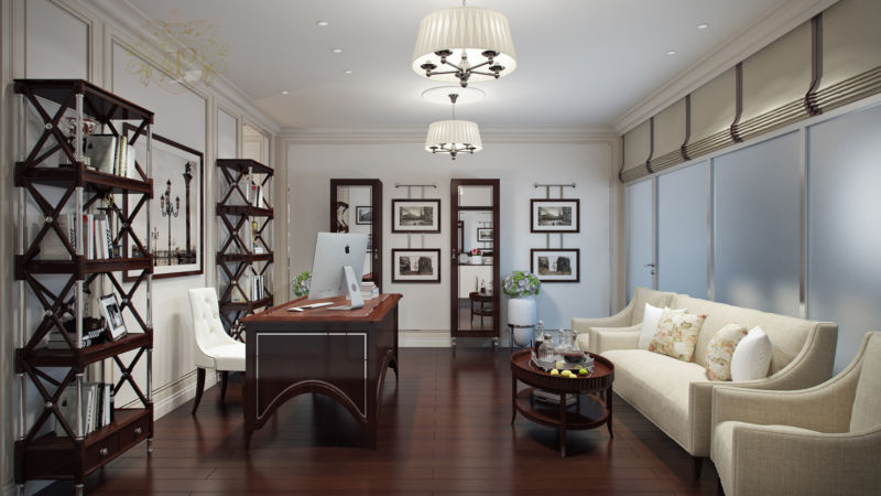 Дизайн офиса интерьер стиль арт деко / ар-деко