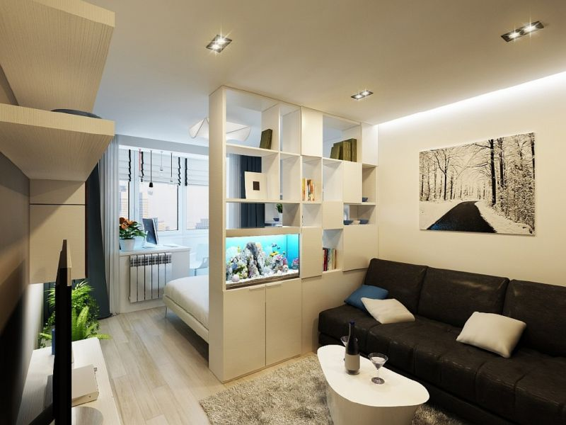 Дизайн двухкомнатной квартиры 54 кв.м