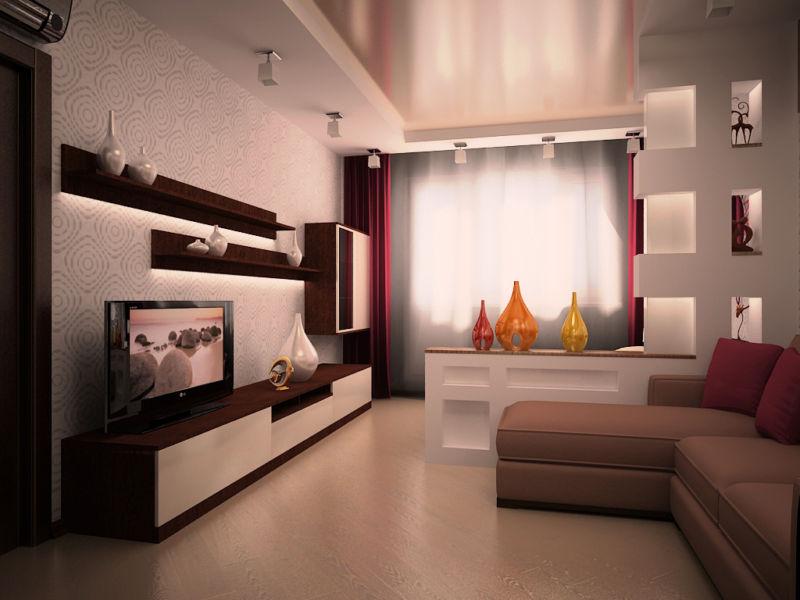 Интерьер гостиной в квартире в панельном доме фото