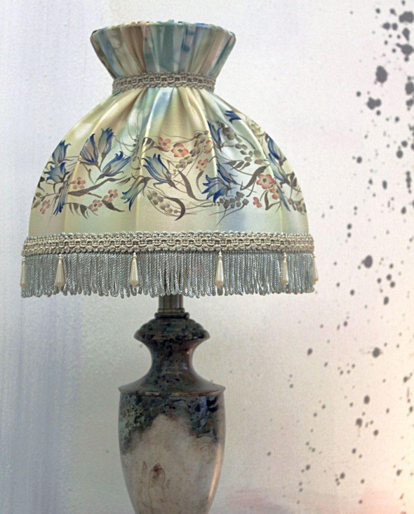 Плафон на настольную лампу своими руками 80