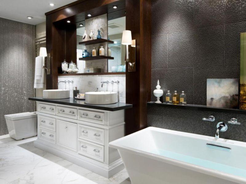 Отделка ванной комнаты плиткой 2017