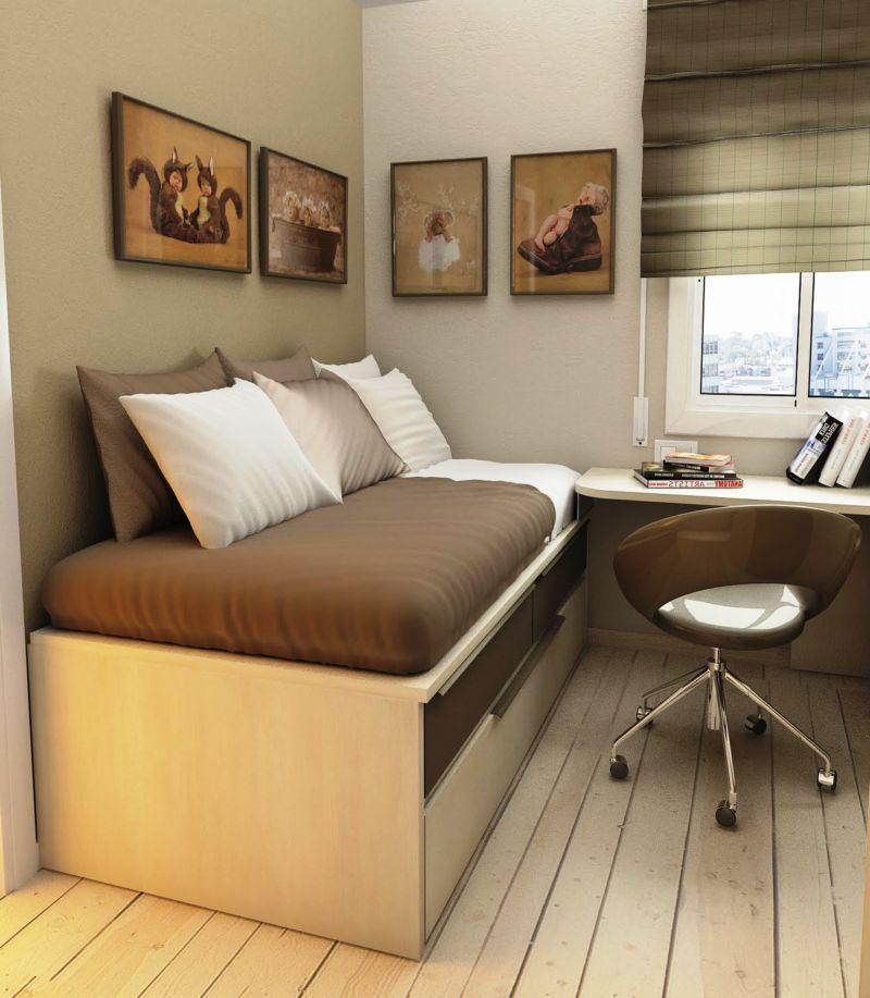 Дизайн маленькой комнаты 12 кв.м фото