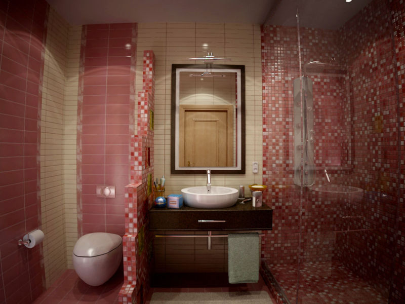 совмещенный санузел с ванной дизайн