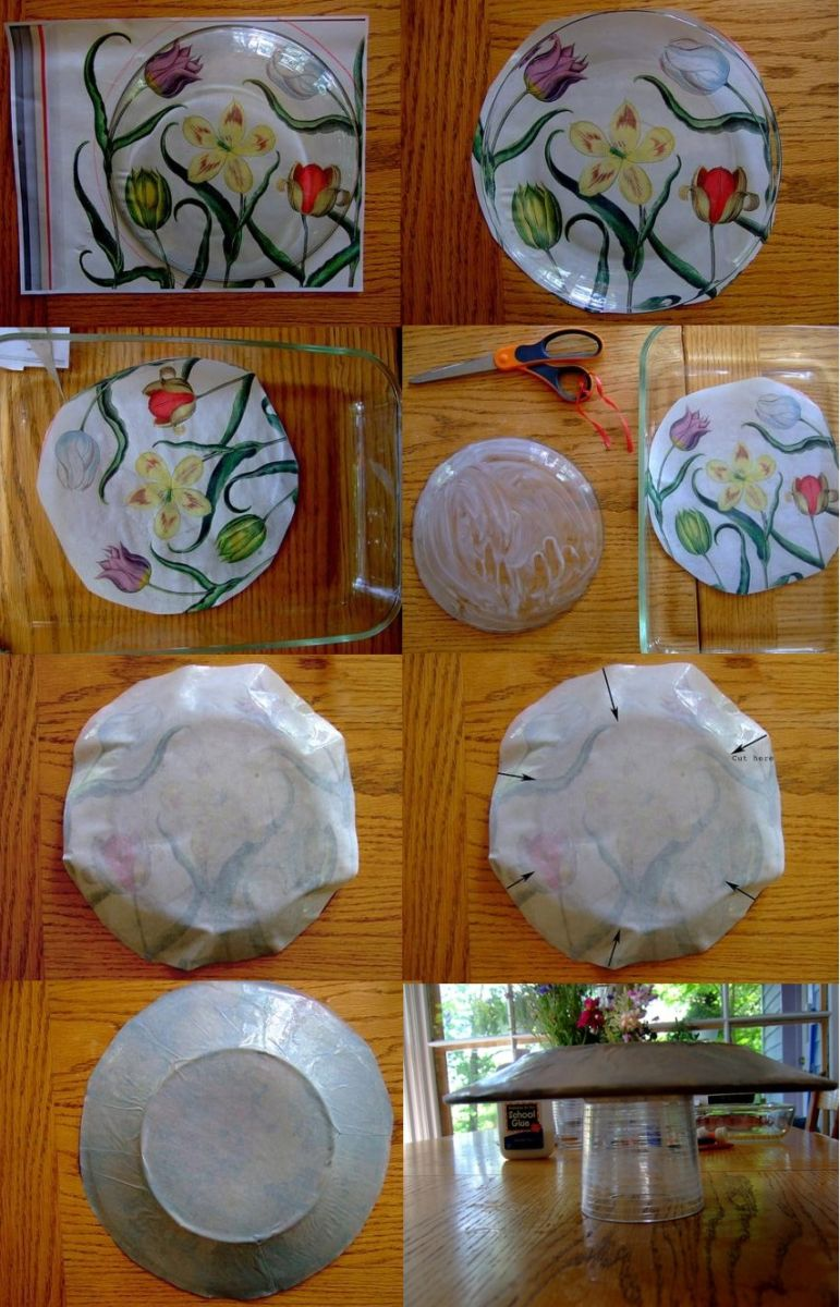 Декупаж тарелок для начинающих пошагово