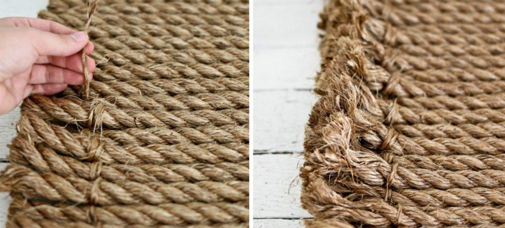 Верёвочный коврик своими руками 47