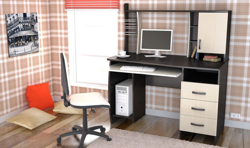 Компьютерный стол - 80 фото самых модных столов интерьере.