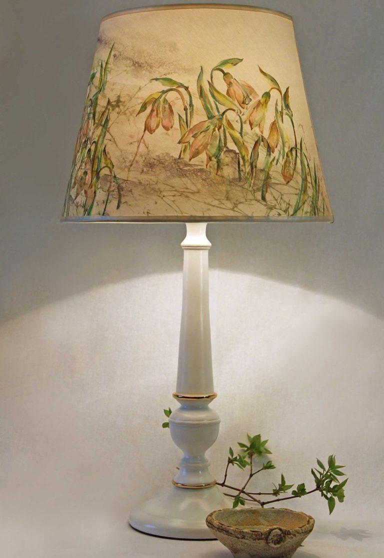 Декор настольных ламп своими руками фото