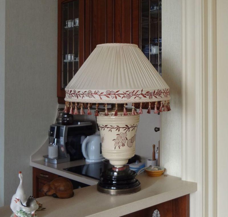 Абажур для настольной лампы - мастер класс с пошаговой инструкцией для начинающих