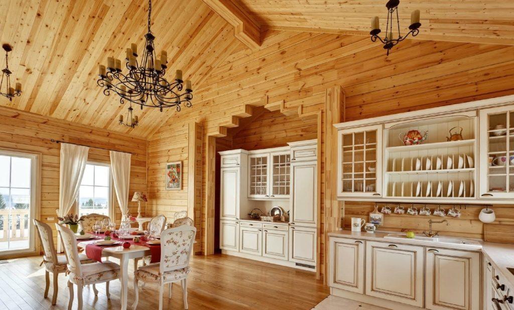 Стили интерьера деревянного дома