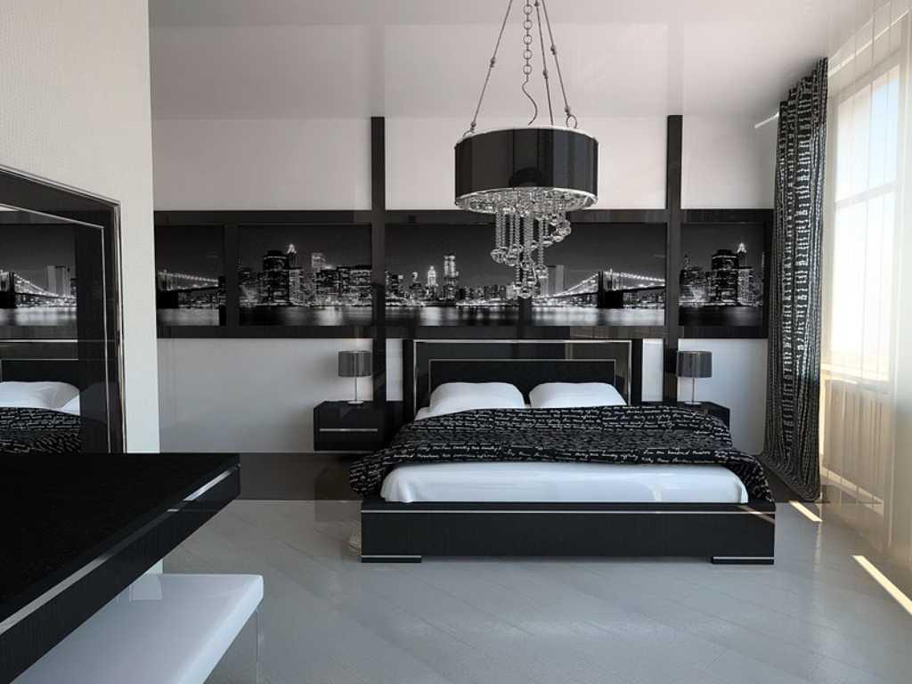 Интерьер спален в стиле хай-тек