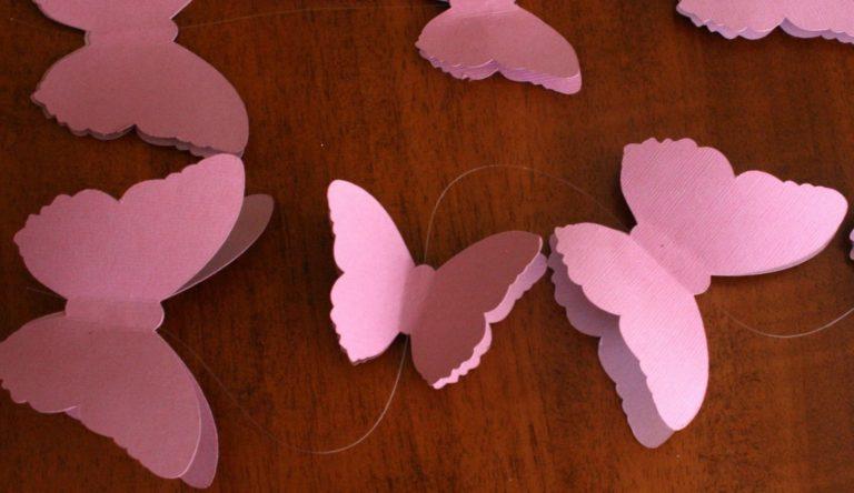 Бабочки для украшения своими руками