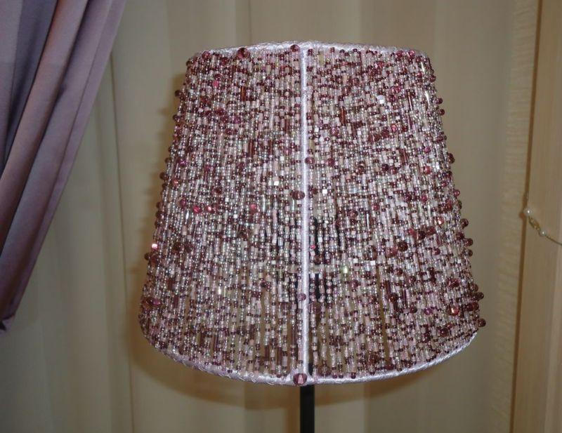 Декупаж абажура лампы настольной 3
