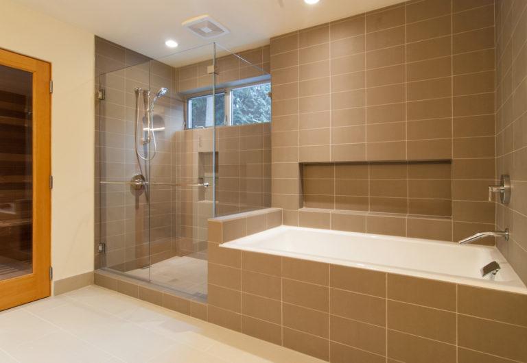 Bathroom ceiling tile