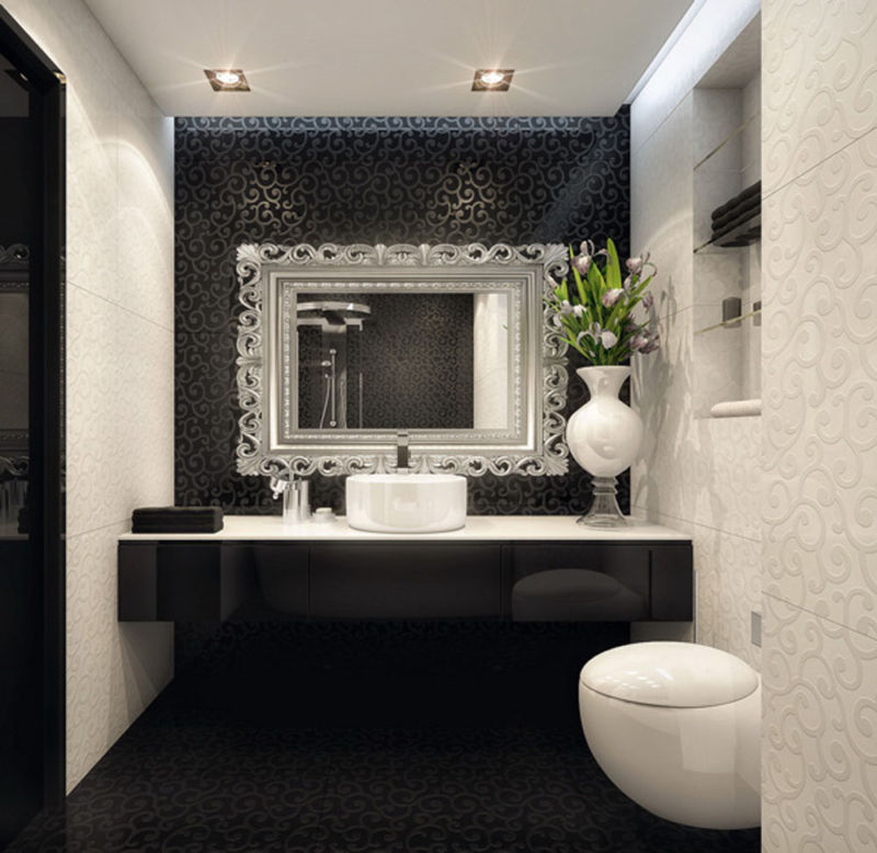 beautiful-interior-design-of-small-room-with-black-and-white-bathroom-decoration-also-lamps