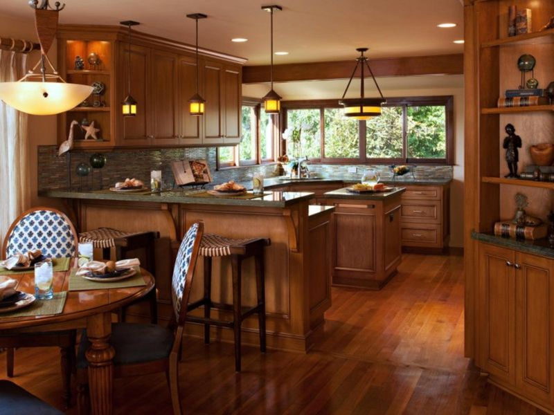 beautiful-open-kitchen-dining-space-craftsman-style-interiors-design-888x592
