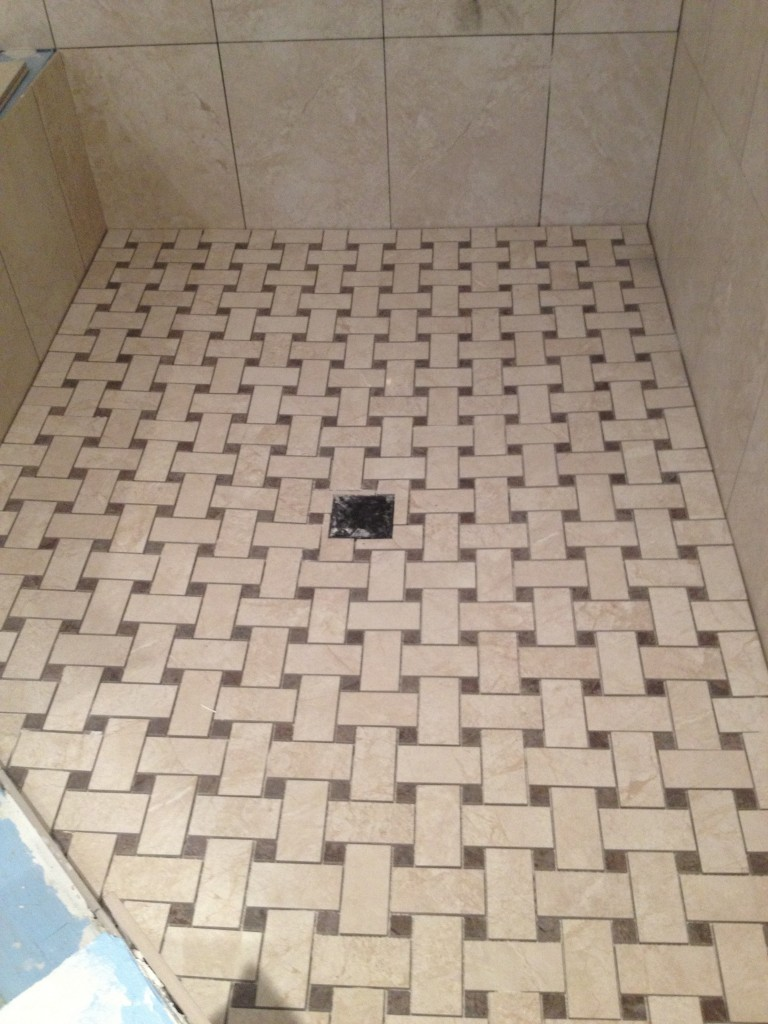 bewitching-decoration-of-shower-floor-tile-in-beige-color-also-simple-square-drain