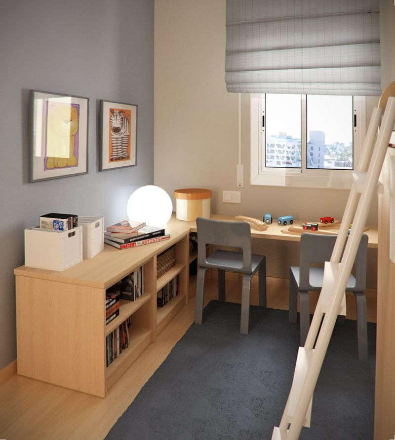 cool-kids-room-ideas-with-wooden-sets-scheme-ideas-for-small-spaces-interior-design-for-children-bedroom-decorating-with-study-table-unit-also-two-seats-inspirational