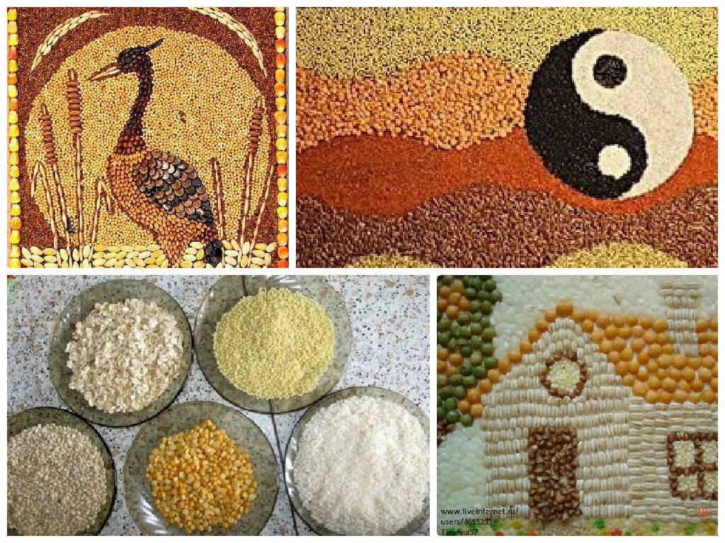 Картины из круп и семян своими руками фото 99