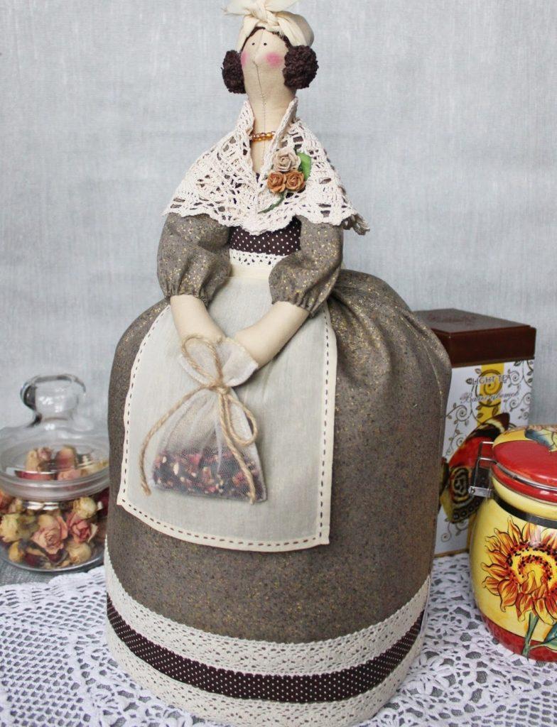 Кукла на чайник своими руками мастер-класс, грелка на чайник выкройка 5