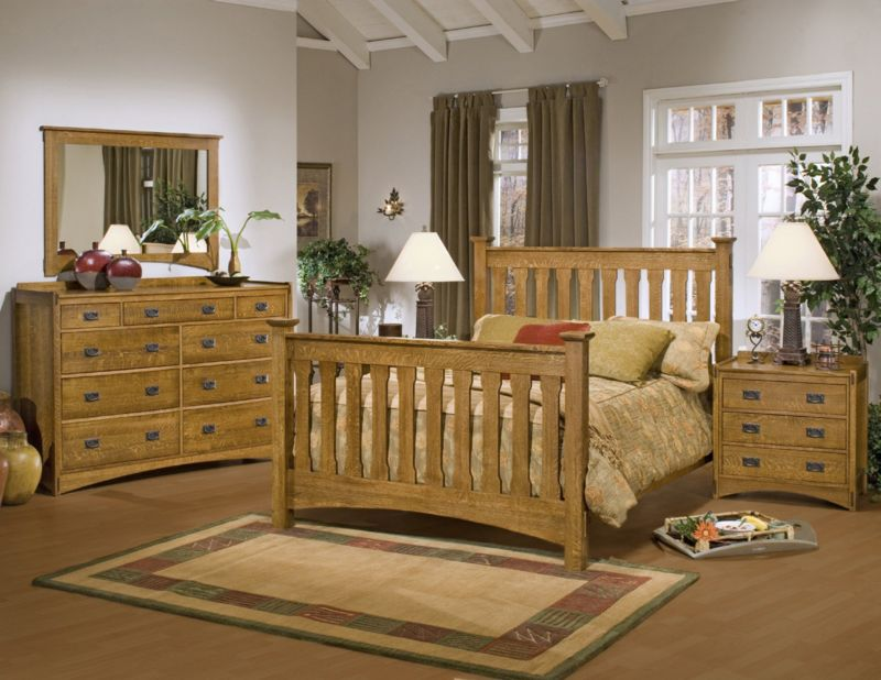 mission-style-bedroom-furniture-set