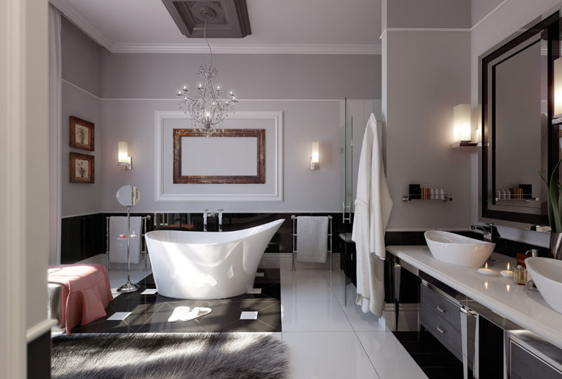 modern-glamorous-bathroom-stainless-beautiful-chandelier